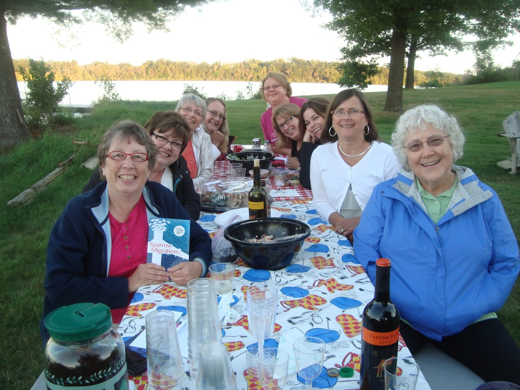 The Novel Nurses hosted me at a lovely al fresco, waterfront discussion. After ten years together, they know how to do Book Club Night right!