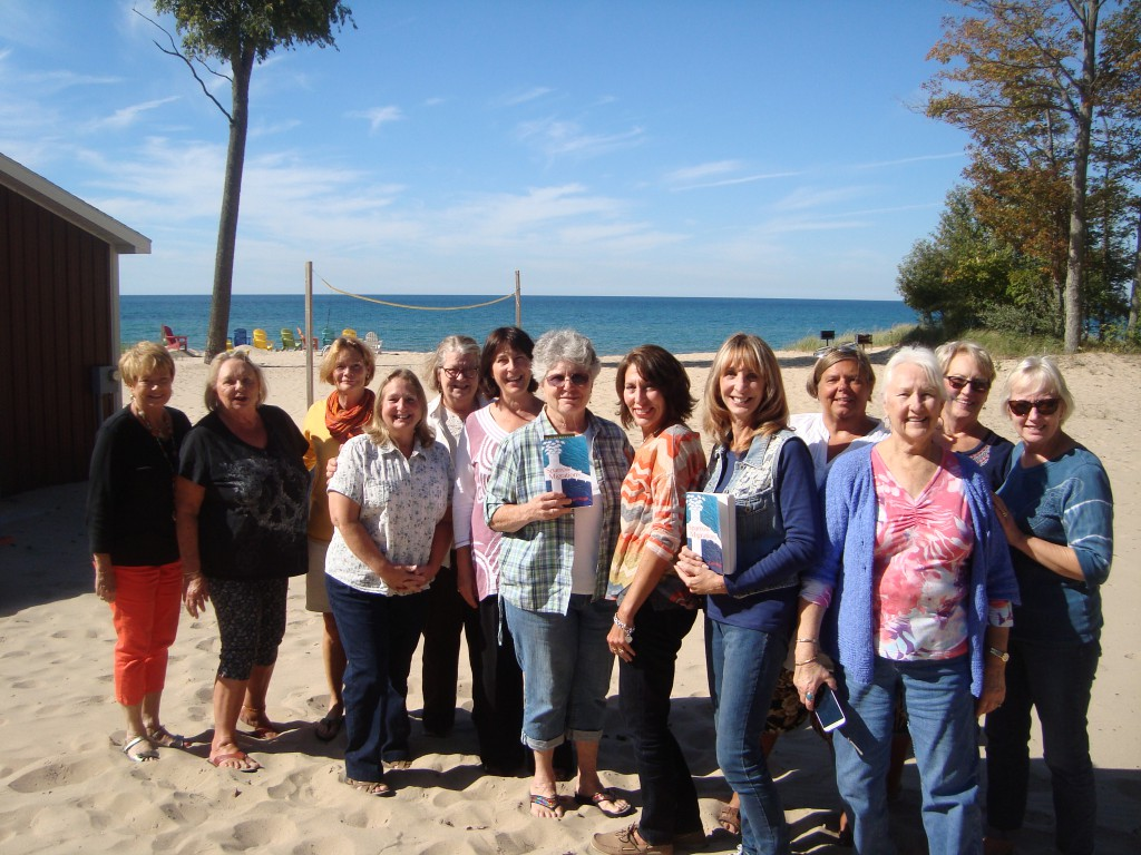 A glorious day on Lake Michigan for the  Lakeland Association Turning Pages book club discussion. I'll come back to Manistee anytime!