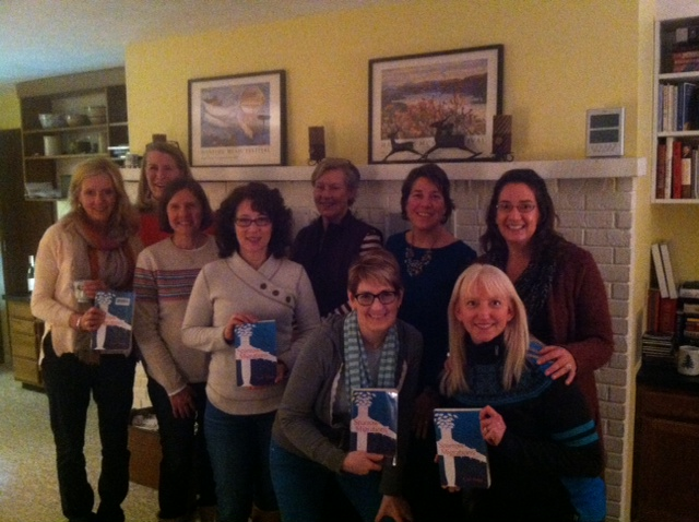 An invigorating discussion on a brisk evening with the Leland (MI) book club. (Feb. 2015)