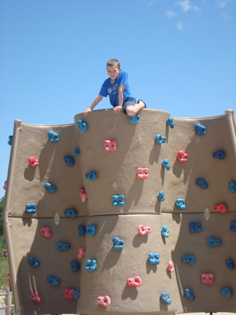 This would be a climbing wall, Mom.