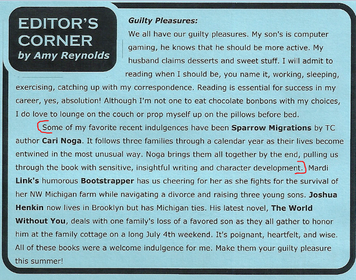 From Horizon Books June 2013  newsletter
